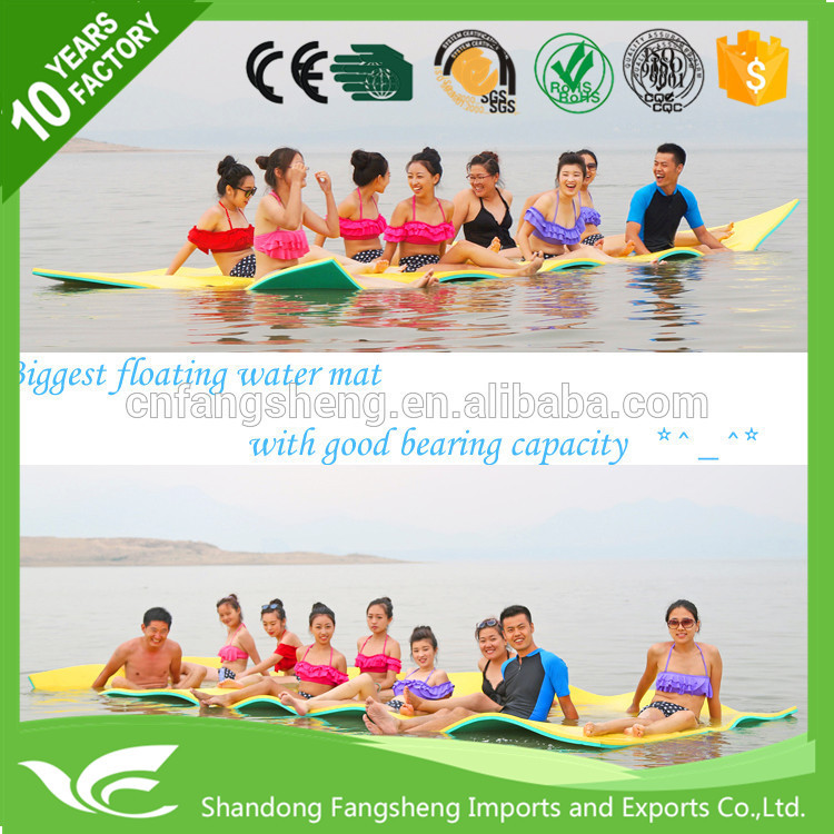 5.5m water sports equipment floating water XPE foam pad floating mat water play mat