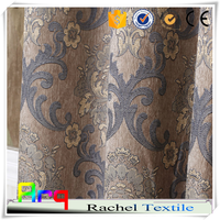 classic design jacquard curtain fabric upholstery floral design- light color