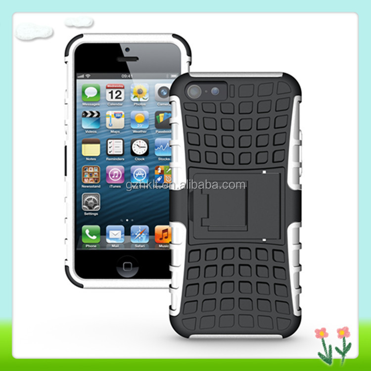 New Fashionable TPU PC Stand Case Cover For iPhone 5c