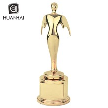 no minimum order quantity wholesale gold plating oscar metal trophy