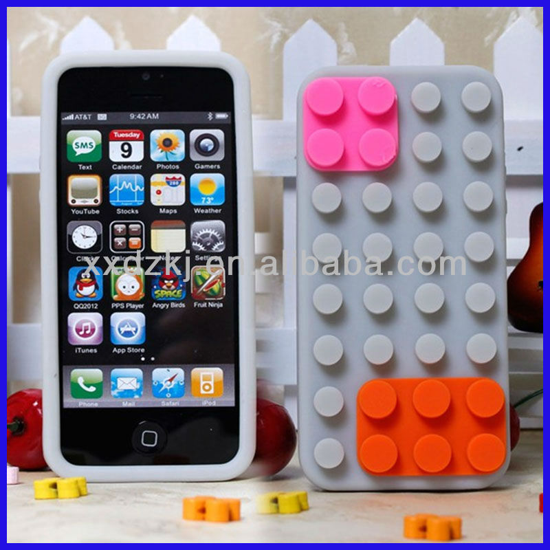 Custom made blank printed silicone phone case for iphone