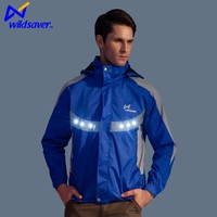 Most popular reflective LED light safety warning jacket for running man