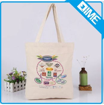promotional gift use bulk printed cheap shopper grocery canvas tote bag