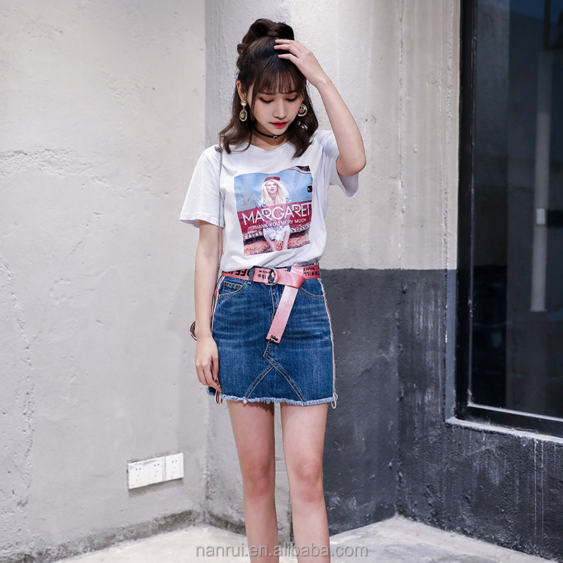 Women Summer Slim Sexy Blue Short Denim Skirt For Sale