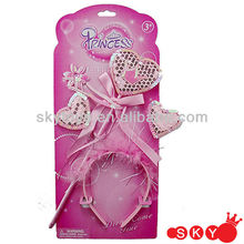 2014 Girls dress up sets princess hair accessories for kids