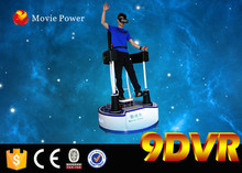 Interactive virtual reality equipment racing and flight game machine amusement ride 9d standing up simulador