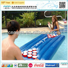 Inflatable floating beer pong table
