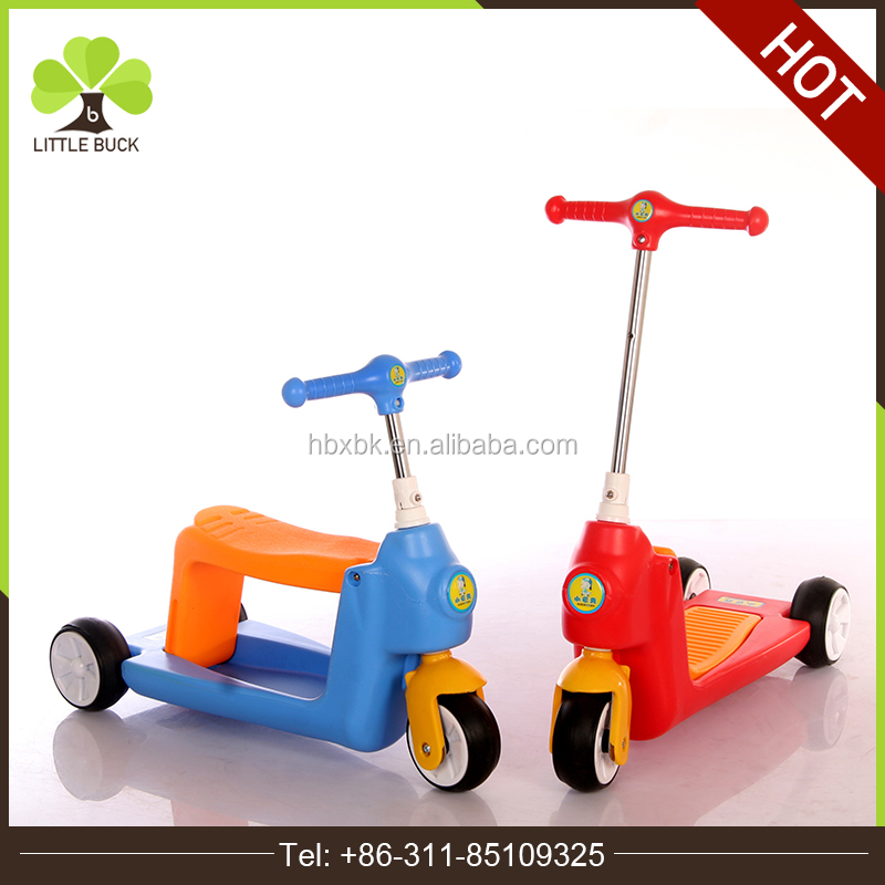 2017 China Scooter Factory Online Wholesale 3 IN 1 Kids Scooter Push Bike , Three Wheel Kids Kick Scooter For Sale