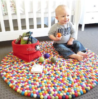 100% New Zealand Pure Colorful Wool Dryer Ball Cushion