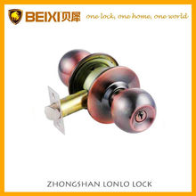 2016 Cylindrical knob locks antique copper keyed Safe lock