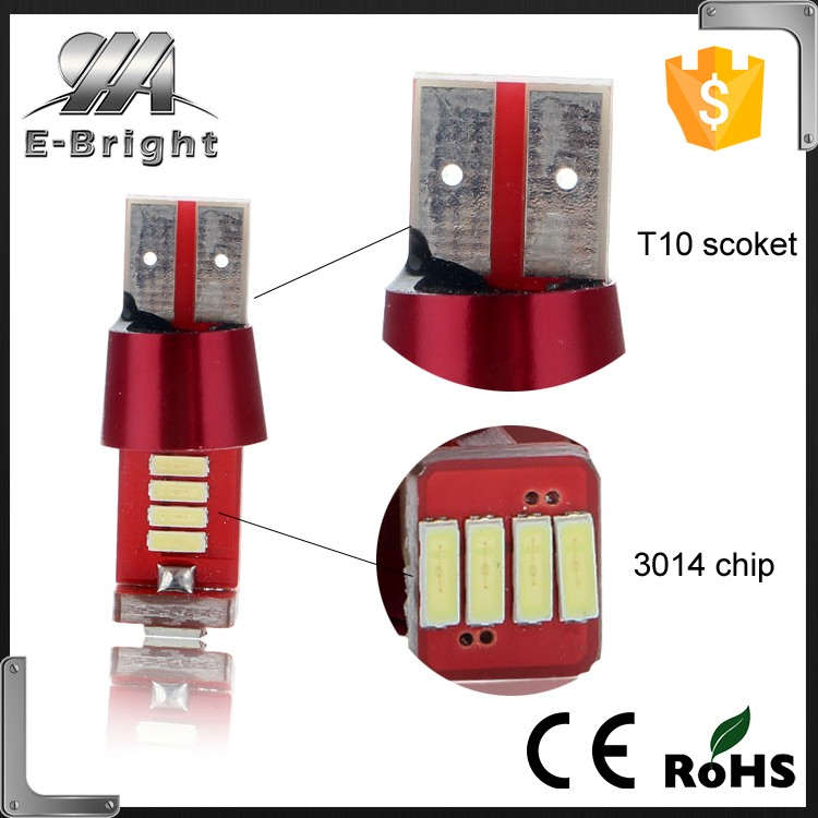 Super bright T10 Canbus 12 SMD 3014 LED W5W No error 194 168 501 LED white blue yellow green DC 12V Car Accessories