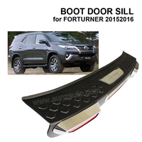 LATEST MODELS ABS BOOT DOOR SILL TRUNK SCUFF PLATE PROTECTORS FOR FORTURNER 20152016 ACCESSORIES,GENUINE FACTORY