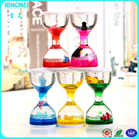 KM-CP19 Home decor acrylic sand timer,colorful sand hourglass