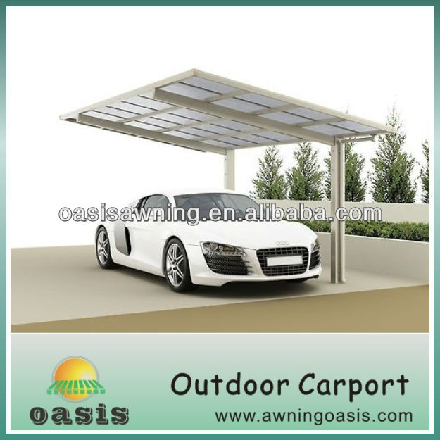 2013 home design strong aluminium canopy carport with solid polycarbonate sheet