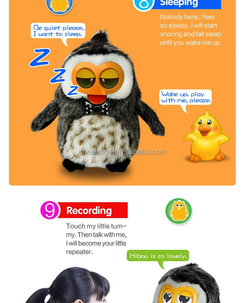 multifunctional electronic pet touch Repeat Talking plush toys