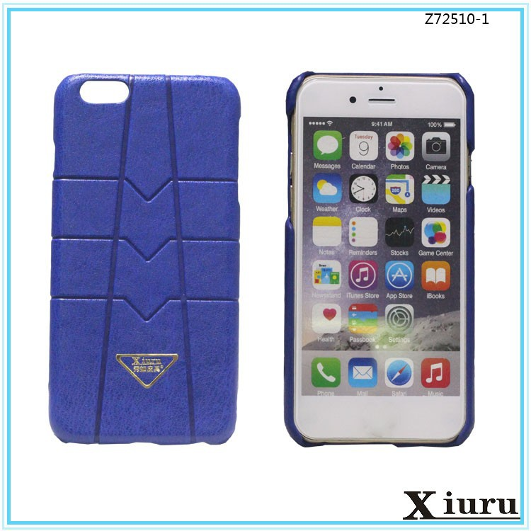 Hard Wearing Leather Back Cover Mobile Phone Shell For Iphone 5 6 6S Z72510-1
