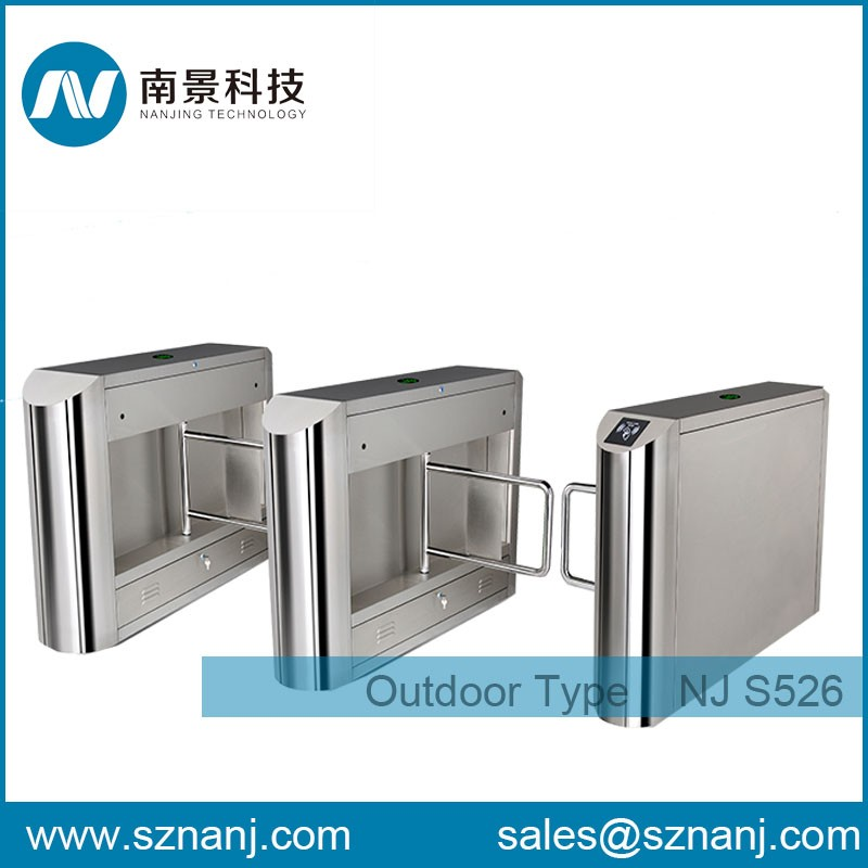 waterproof stainless manual swing barrier gate rfid barrier gate