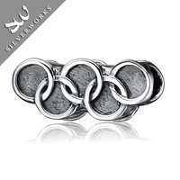 Thai 925 Sterling Silver Jewelry Olympic rings Charm
