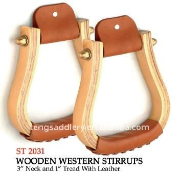 Widely Used Western Wooden Saddle Stirrups