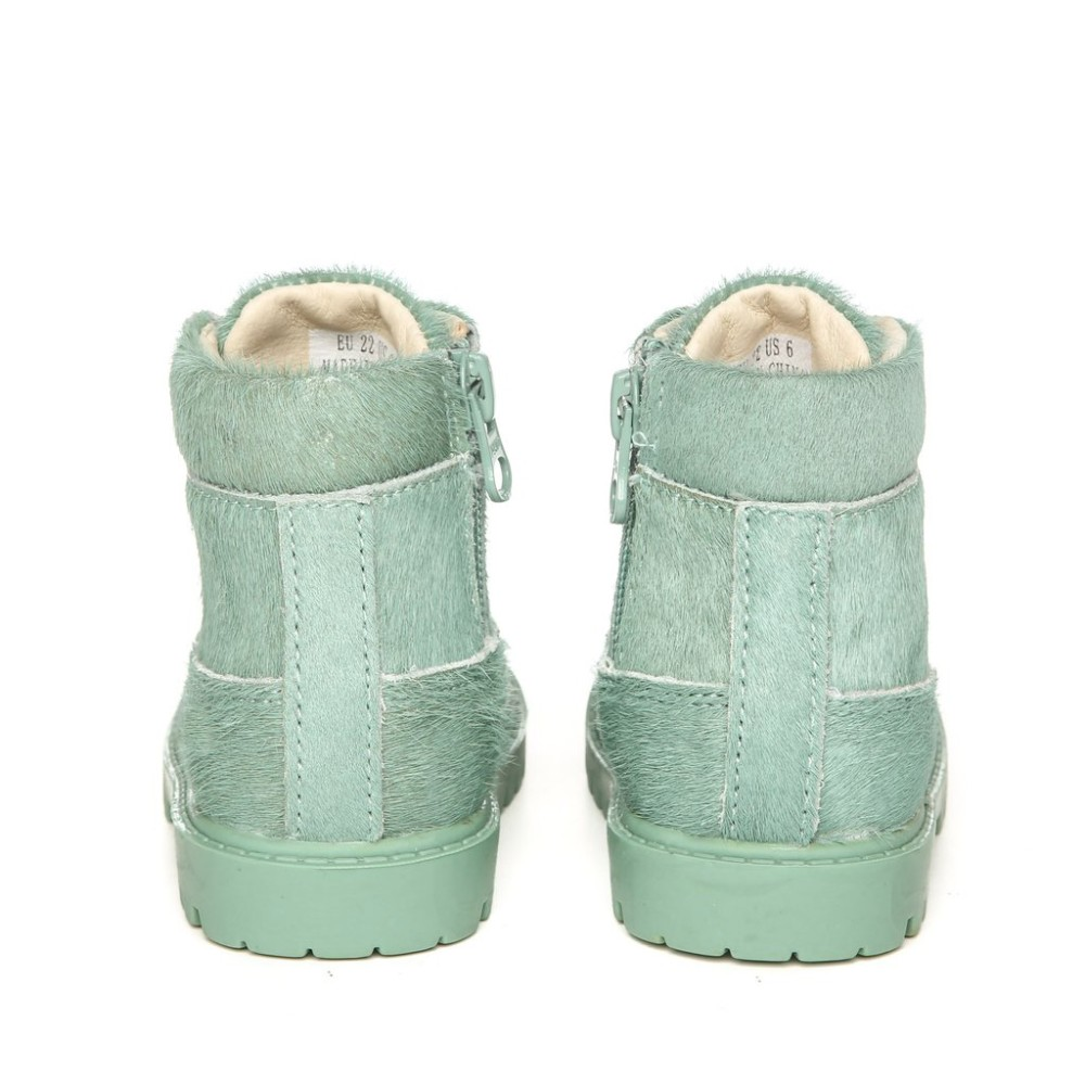 Leather boy boots,leather flat kids shoes for Chrismas Day,lace up children shoes