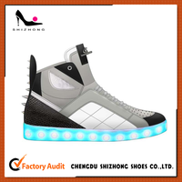 New Hot 7 Colors Unisex LED Shoe for Adult 2016 Summer Fashion Flurescent Zapatillas