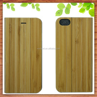 amazon China professional supplier book style stand mobile phone bamboo case for iPhone 7 7Plus