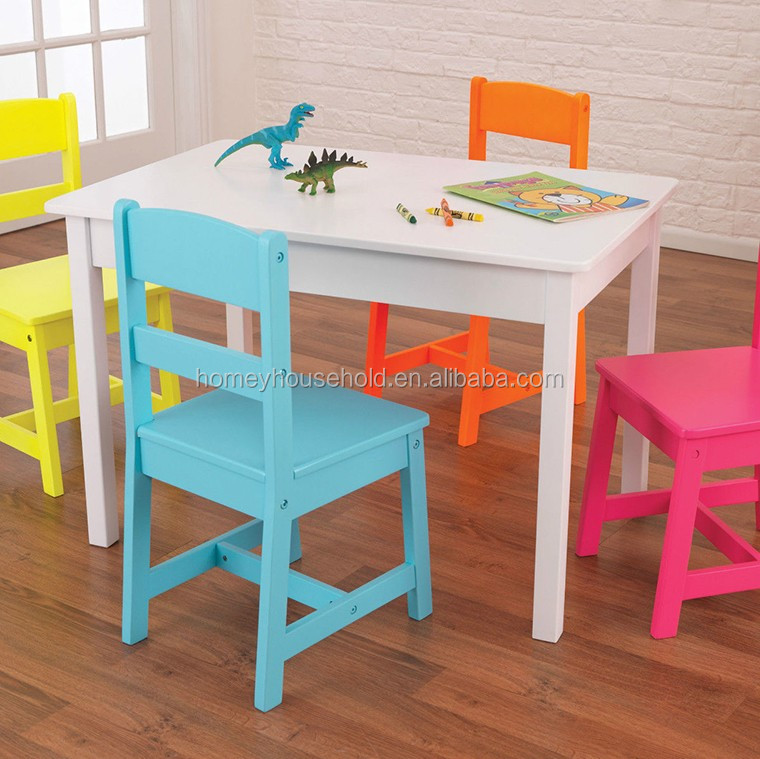 Wooden High Glossy Rectangle Dining Table Designs Kids Furniture