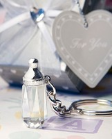 Delicate Crystal Collection Baby Bottle with keychain baby shower gifts