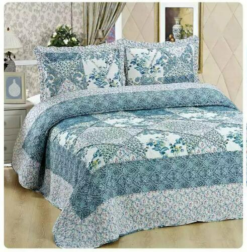 Wholesale Quilted Printed 100% Cotton Comforter Sets Luxury Bedding