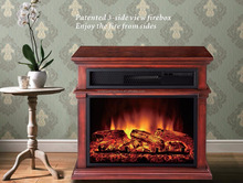South America style high quality patented 3 View Side View Electric Fireplace