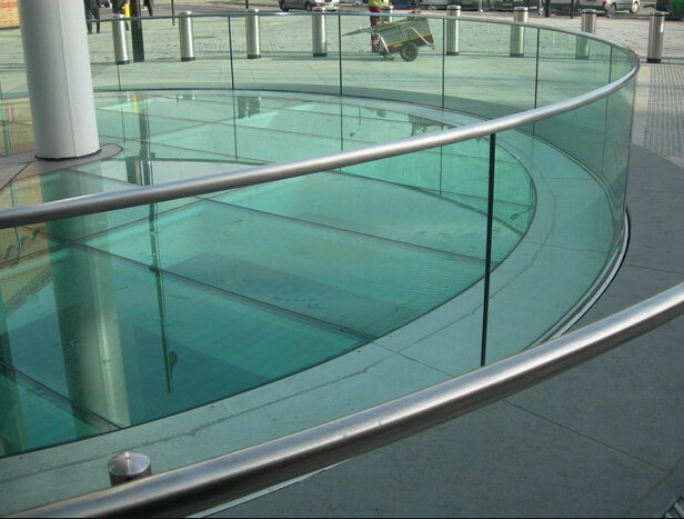 high quality tempered & laminated curved glass balustrade supplier price