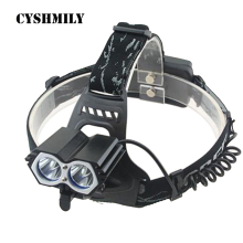 CYSHMILY New Charging Plastic Motorcycle Waterproof Rechargeable Dual Light Source ABS Headlamp