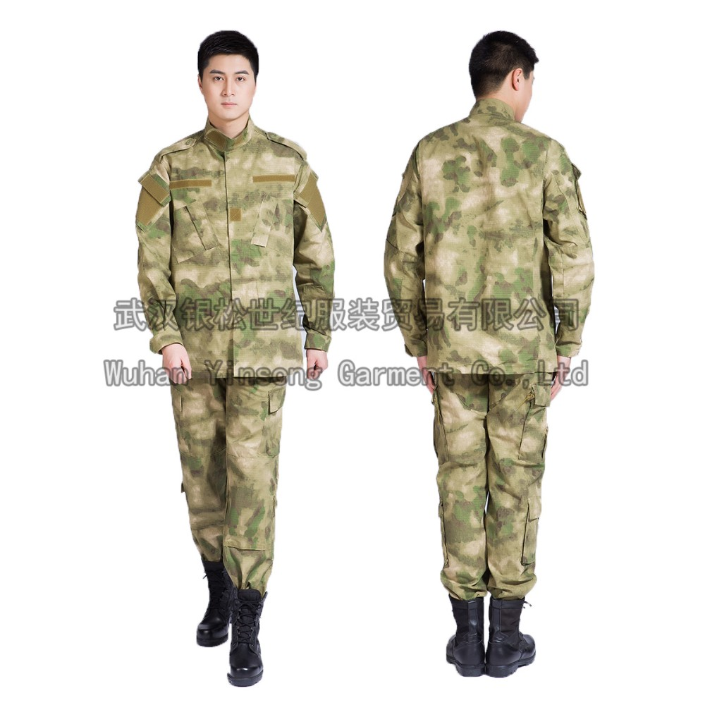 [Wuhan YinSong] A-TACS FG Camouflage Suit Sets Rip-stop Uniform Army Combat Airsoft Uniform Jacket & Pant