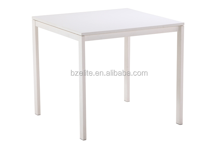 Cosmetic wood display table with 4 legs