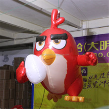 advertising customized hanging cartoon red flying bird model inflatable for sale