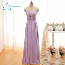 Chiffon Pleat Criss-Cross Strapless Bridesmaid Dress