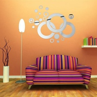 Brand New DIY Modern Circle & Round Acrylic Mirror Wall Stickers Home Decor Decal Art Excellent Quality