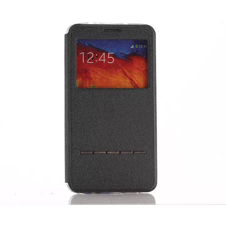 Flip Window PU Leather Smart Key Stand Back Cover Case For Samsung Galaxy Note 3