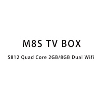 2016 Ott amlogic mx firmware android box tv M8S s812 set top box remote control dvd t2 set top box wifi