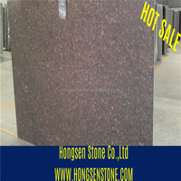 India Red Tan Brown Granite Slab