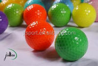 Miniature inflatable colored golf balls