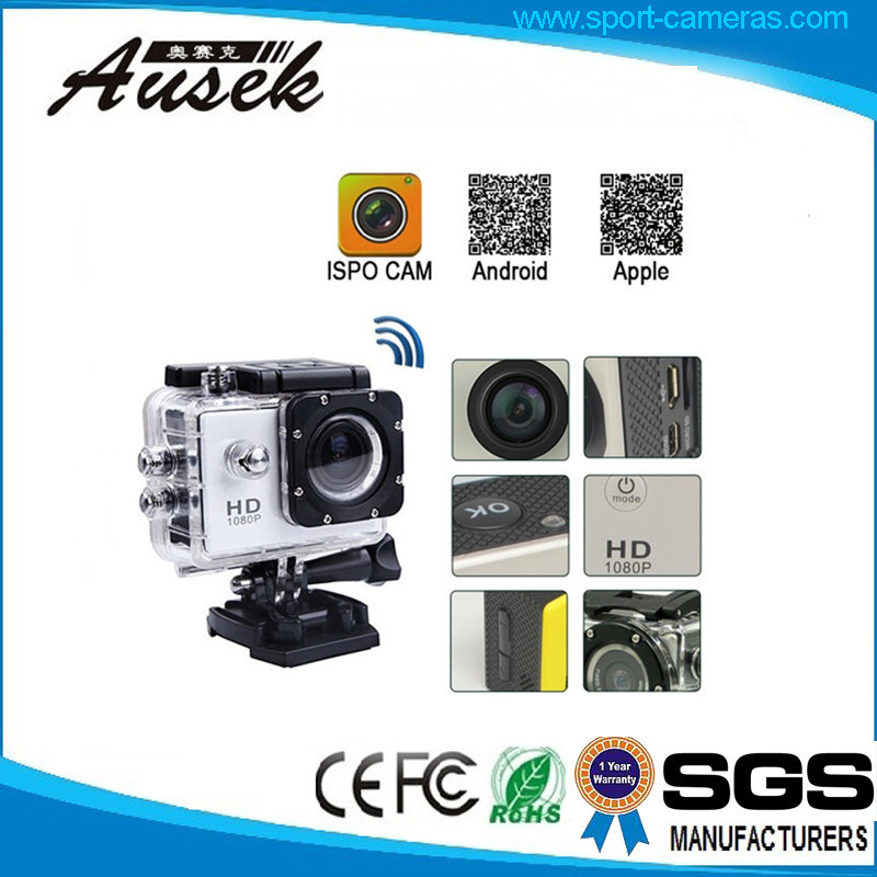 2017 Best Selling 12M/8M/5M 1080P Wide Angle Action Sport Camera For Car And Motorcycle