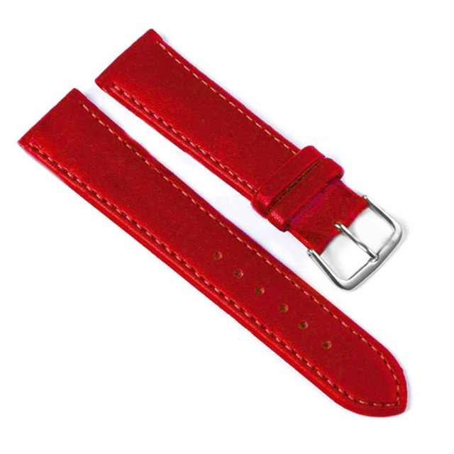 2016 Hot Selling Relojes Band White & Red Genuine Leather Alligator Crocodile Grain Watch Strap Wholesale