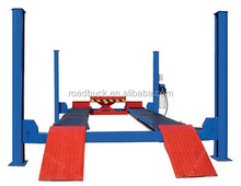 Factory price cheap used four post car lift for summer promotion