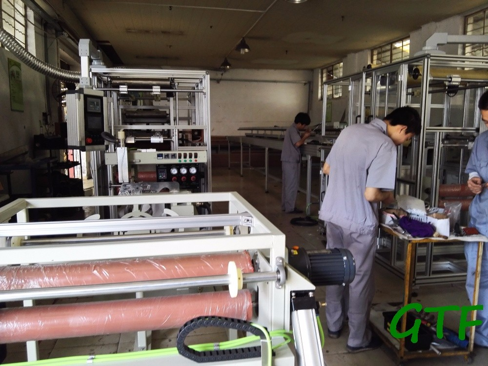 Textile industrial stitching machine for bag filter making
