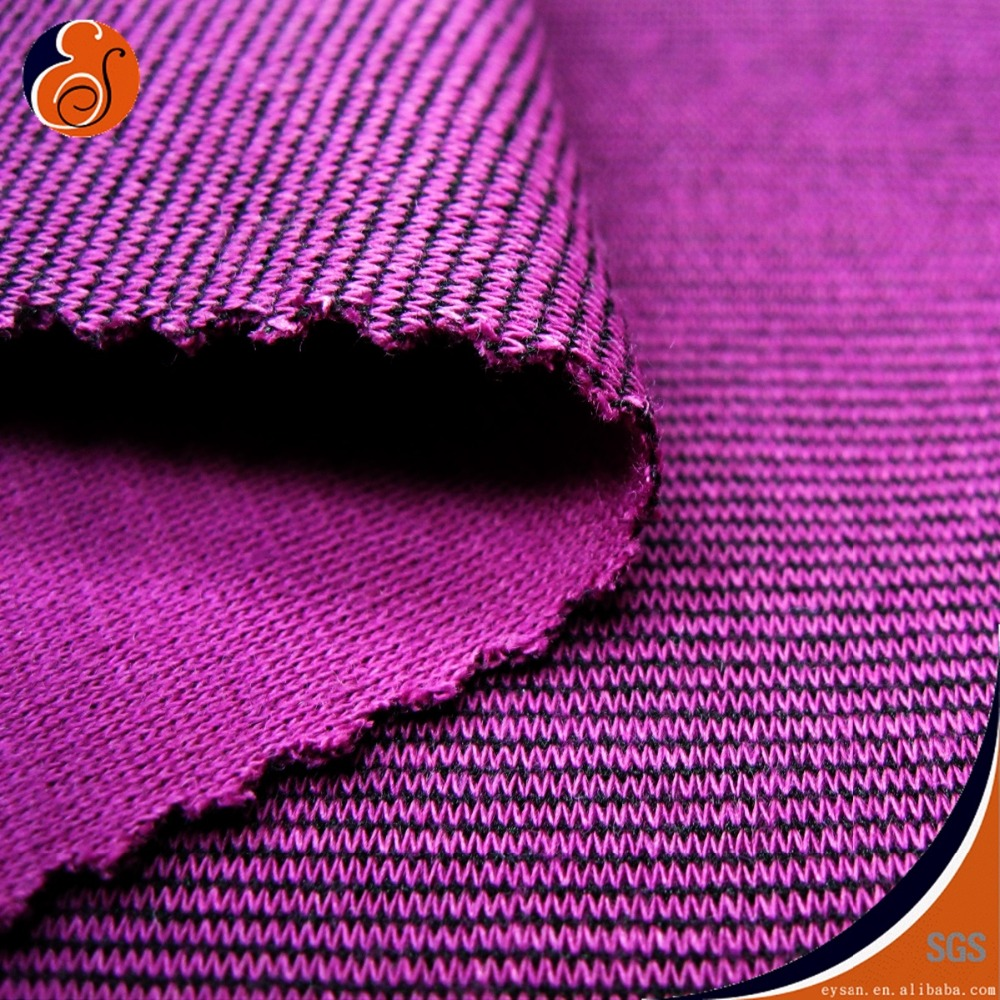 Polyester Cotton Ponte Roma Interlock Fabric for Casual Wear