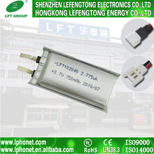 China cheap lipo batteries 102040 li-ion 3.7v 750mah battery with wires