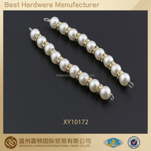 gorgeous pearl beads with rhinestones shoe accessory, shoe decoration