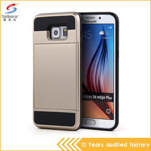 Alibaba express multifunction pc tpu hybrid cell phone wallet case for Samsung S6 S6edge
