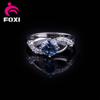 cat eye design rings with big AAA cubic zirconia